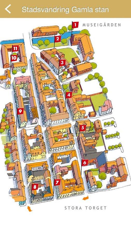 eksjö karta Telling Eksjö guidar i mobilen eksjö karta